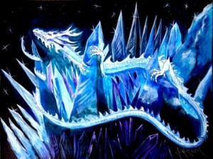 Ice Beast, watercolor